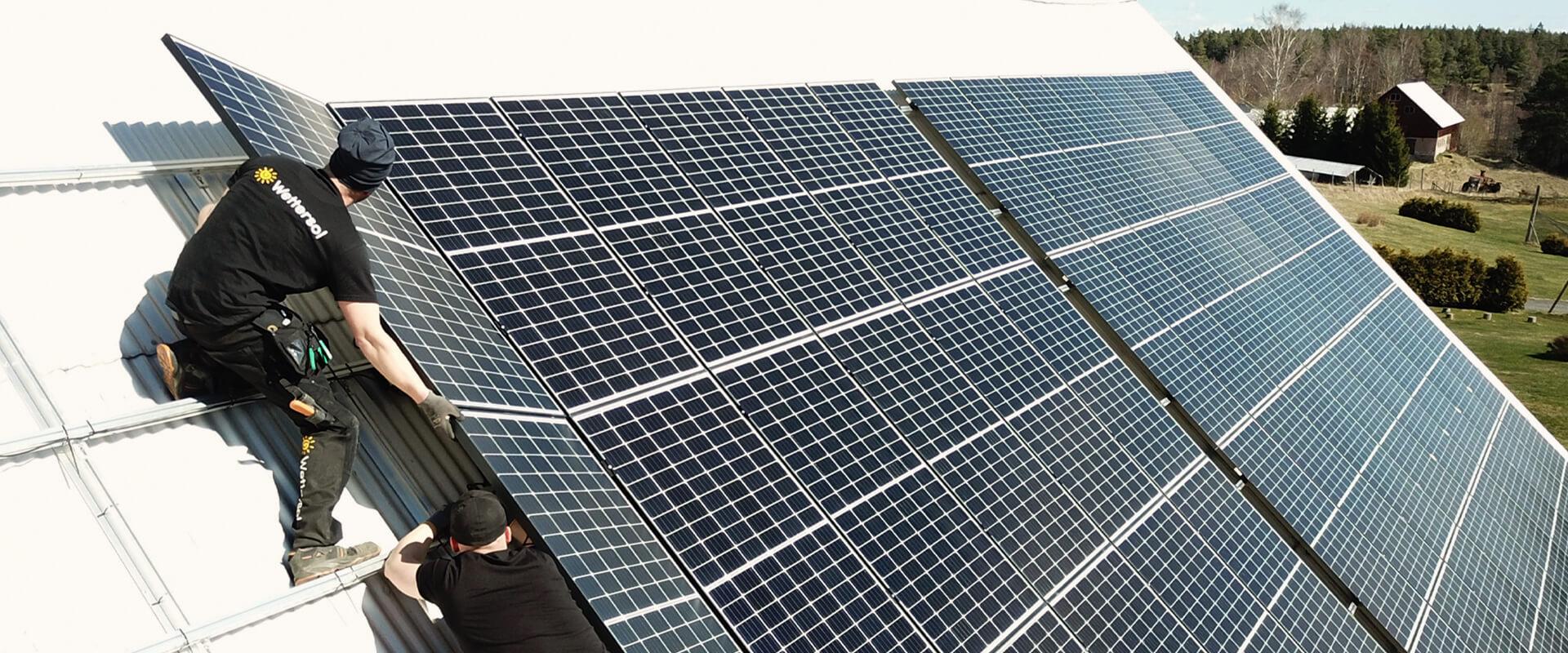 Wettersol installerar solpaneler i Jönköping