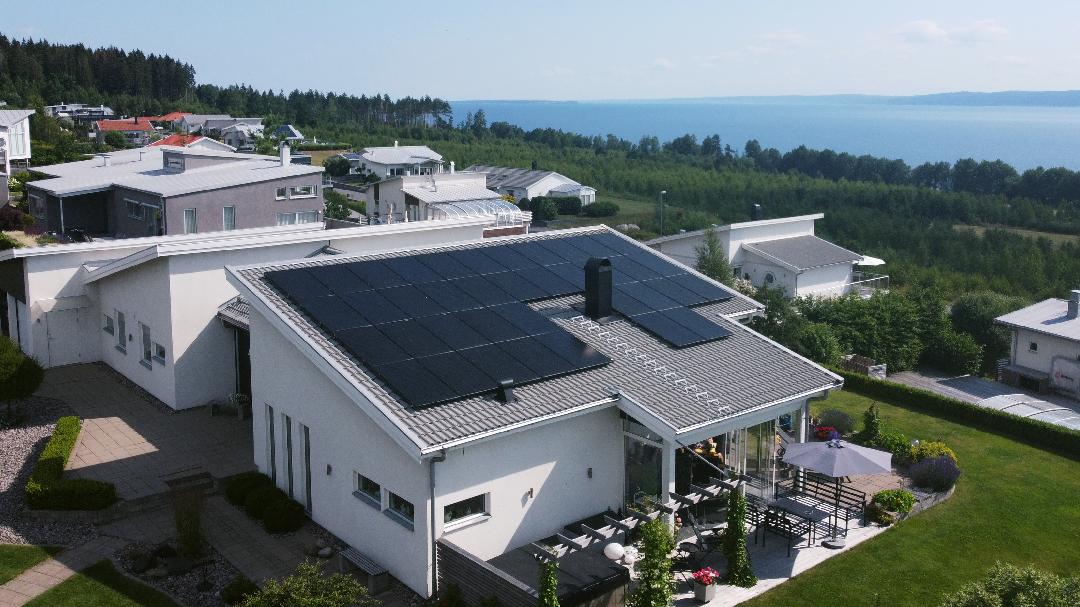 Solceller villa Jönköping