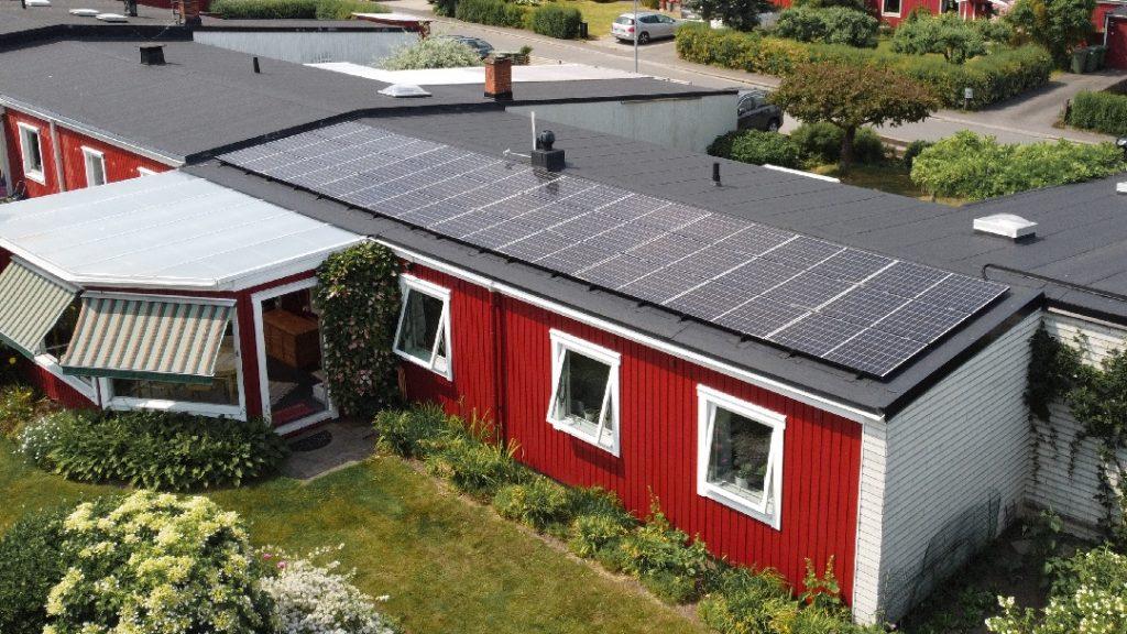 Solceller på Villa i Jönköping