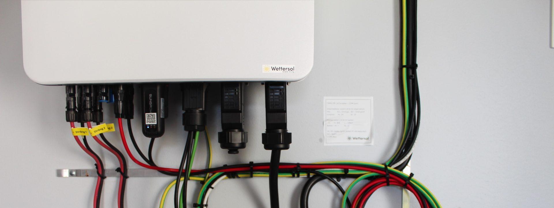 Växelriktare Sungrow installerad av Wettersol